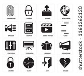 set of 16 icons such as dislike ...