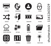 set of 16 icons such as magic...
