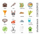 set of 16 icons such as... | Shutterstock .eps vector #1161263413