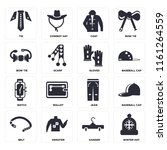 set of 16 icons such as winter...
