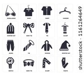 set of 16 icons such as pants ...
