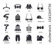 set of 16 icons such as shirt ...