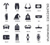 set of 16 icons such as watch ...
