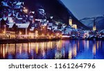 night winter scenic view of... | Shutterstock . vector #1161264796
