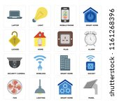 set of 16 icons such as panel ... | Shutterstock .eps vector #1161268396