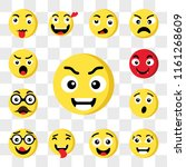 set of 13 transparent icons... | Shutterstock .eps vector #1161268609