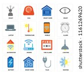 set of 16 icons such as heating ...