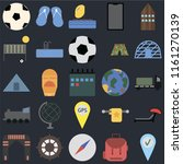 set of 25 icons such as check...