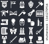 set of 25 icons such as viking...