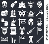 set of 25 icons such as sword ...