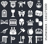 set of 25 icons such as  tower  ...