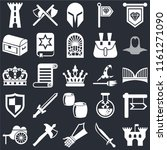 set of 25 icons such as castle  ...