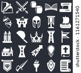 set of 25 icons such as scroll  ...