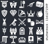set of 25 icons such as flag ... | Shutterstock .eps vector #1161271549