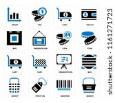 set of 16 icons such as basket  ...