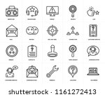 set of 20 icons such as 404...