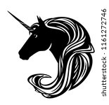 beautiful unicorn horse with... | Shutterstock .eps vector #1161272746