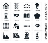 set of 16 icons such as charger ...
