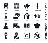 set of 16 icons such as no dogs ...