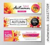 autumn sales banners. | Shutterstock .eps vector #1161277339