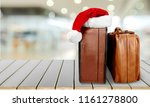 retro large suitcases with... | Shutterstock . vector #1161278800