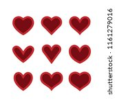 heart icon collection  love... | Shutterstock .eps vector #1161279016