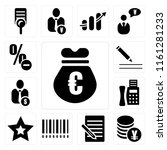 set of 13 simple editable icons ...