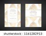 wedding invitation templates.... | Shutterstock .eps vector #1161282913