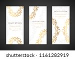 invitation templates. cover... | Shutterstock .eps vector #1161282919