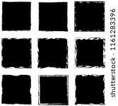 grunge square artistic... | Shutterstock .eps vector #1161283396