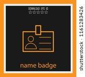 name badge vector icon