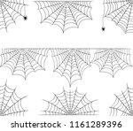 halloween cobweb frame border... | Shutterstock . vector #1161289396