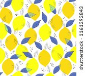 seamless pattern with yellow... | Shutterstock .eps vector #1161292843