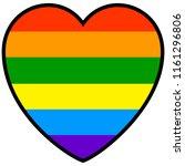rainbow striped heart   a...   Shutterstock .eps vector #1161296806