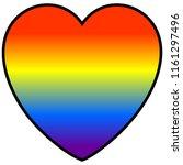 rainbow heart   a vector...   Shutterstock .eps vector #1161297496