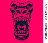 gorilla graphic design for... | Shutterstock .eps vector #1161298879