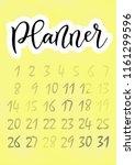 modern calligraphy of planner... | Shutterstock .eps vector #1161299596