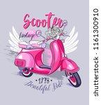 emblem of a vintage pink... | Shutterstock .eps vector #1161300910