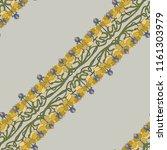 art deco floral seamless... | Shutterstock .eps vector #1161303979