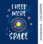 i need more space. t shirt... | Shutterstock .eps vector #1161304096