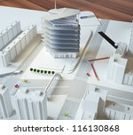 Architectural Model Of A Moder...