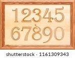 a set of wooden figures in a... | Shutterstock . vector #1161309343
