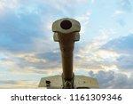 the barrel of the artillery gun ... | Shutterstock . vector #1161309346