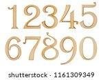 wooden numbers from zero to... | Shutterstock . vector #1161309349