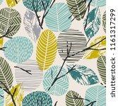 abstract autumn seamless... | Shutterstock .eps vector #1161317299