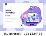 modern flat design concept of... | Shutterstock .eps vector #1161324493