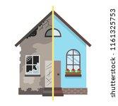 home renovation design  vector... | Shutterstock .eps vector #1161325753