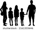 family of silhouettes. | Shutterstock .eps vector #1161333646