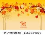 yellow autumn background | Shutterstock .eps vector #1161334099
