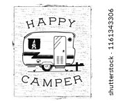 mobile recreation. happy camper ... | Shutterstock .eps vector #1161343306